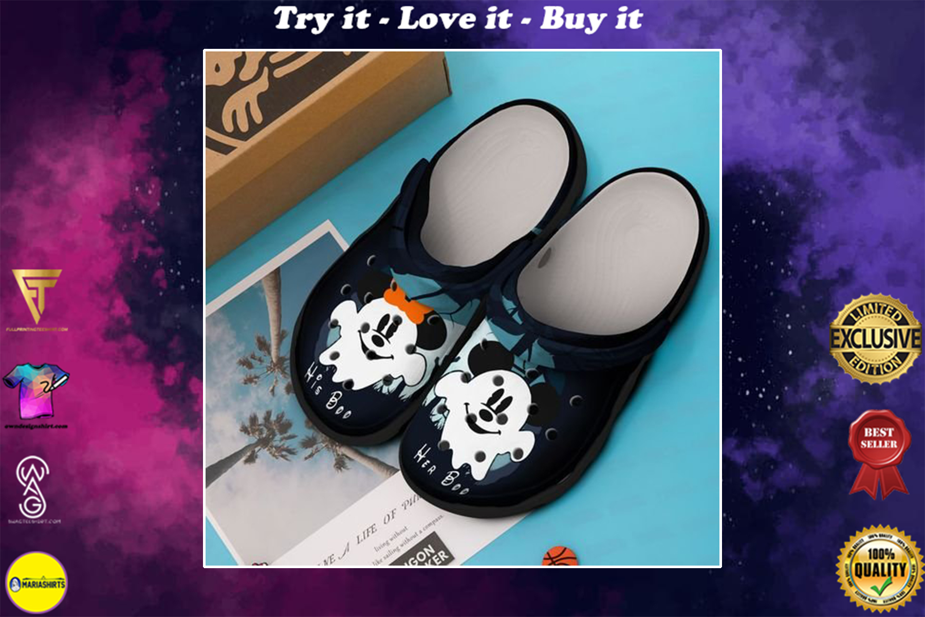 mickey mouse in halloween crocband clog - Copy