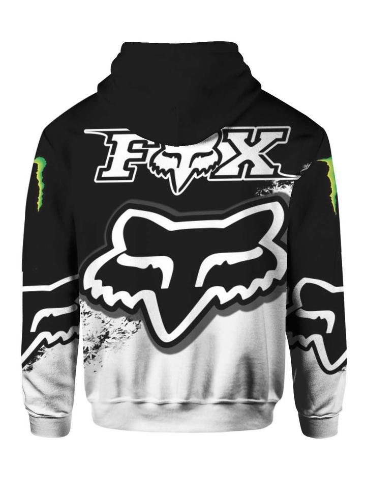 monster energy and fox racing mountain bike gear full printing hoodie