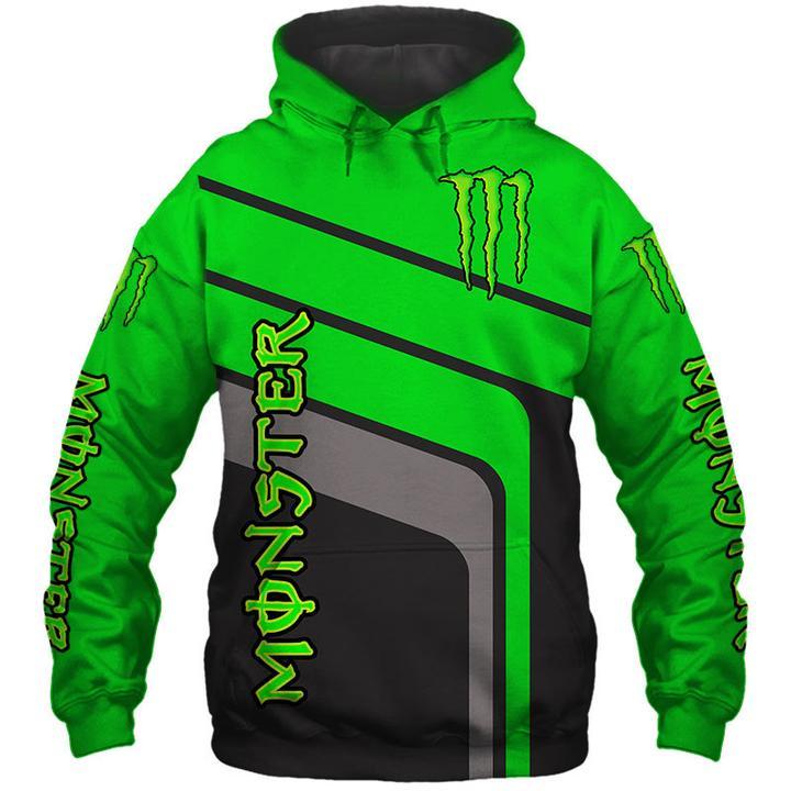 monster energy factory racing motorcross full printing hoodie