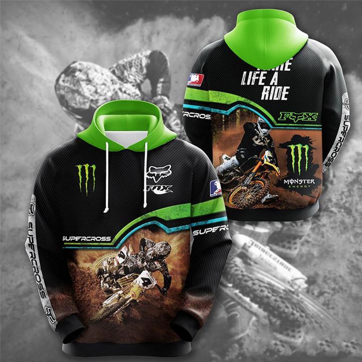 monster energy fox racing motorcross full printing hoodie 1