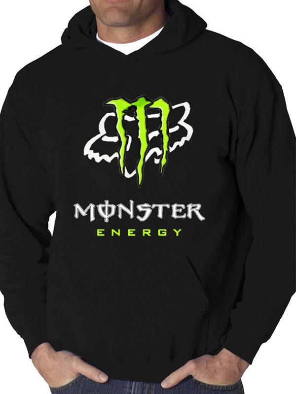 monster energy fox racing team motocross full printing hoodie