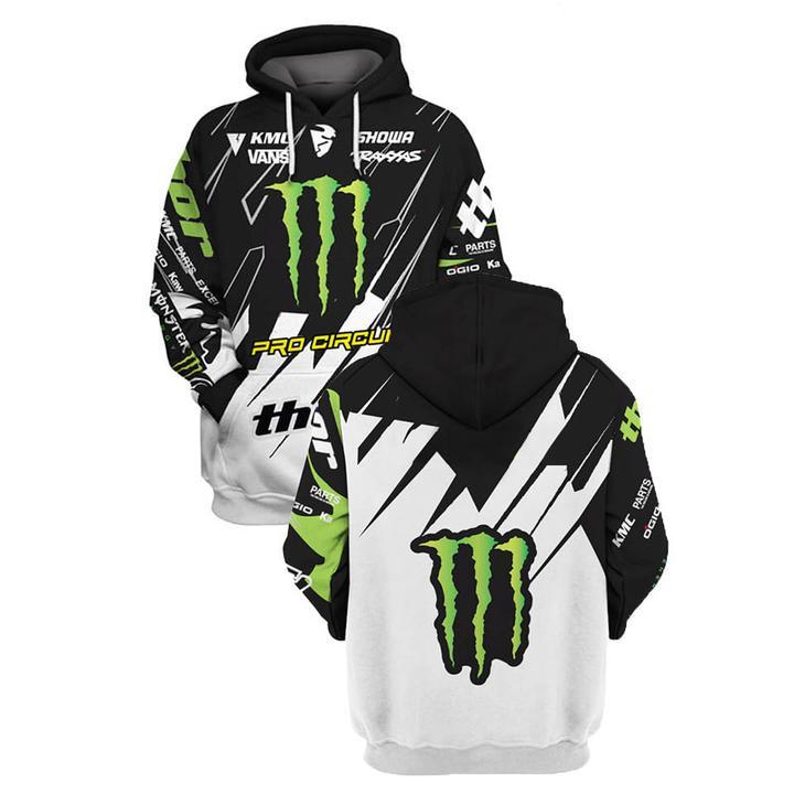 monster energy pro circuit racing full printing hoodie
