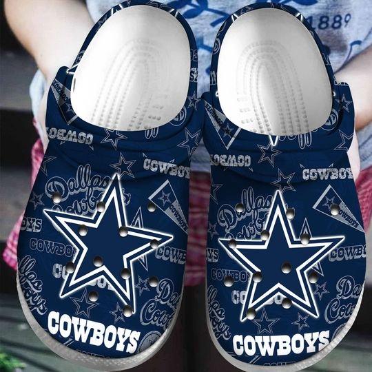 national football league dallas cowboys symbol crocband clog 1 - Copy