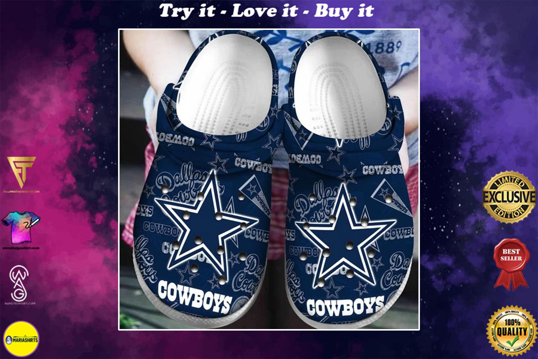 national football league dallas cowboys symbol crocband clog - Copy