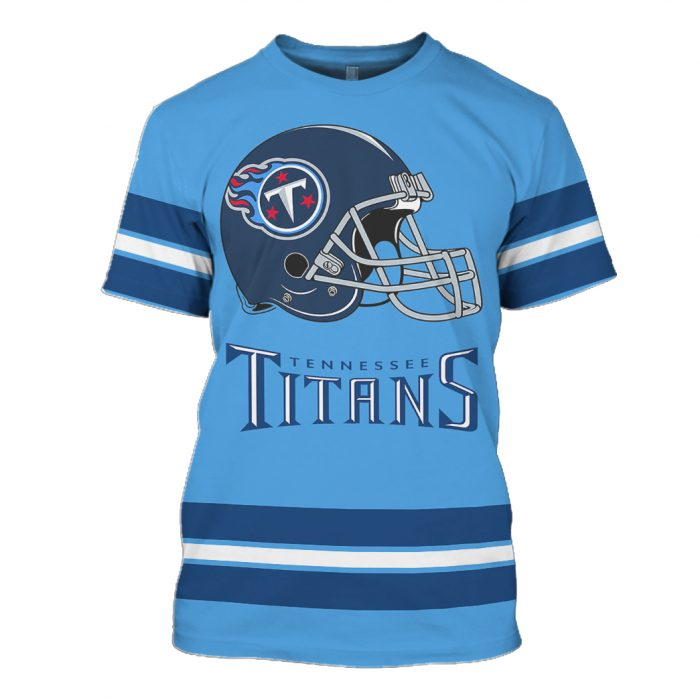 national football league tennessee titans full over printed tshirt