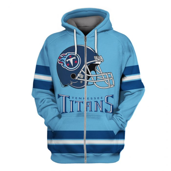 national football league tennessee titans full over printed zip hoodie