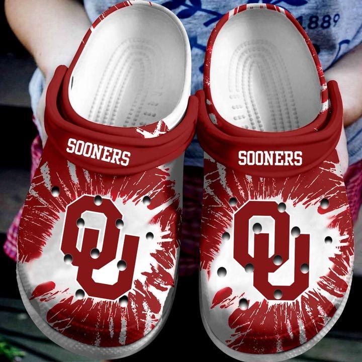 oklahoma sooners football team crocband clog 1