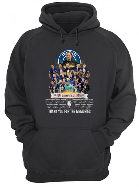 paris saint-germain uefa champions league signatures hoodie