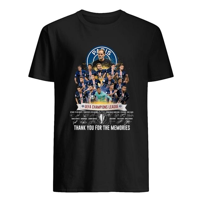 paris saint-germain uefa champions league signatures shirt 1
