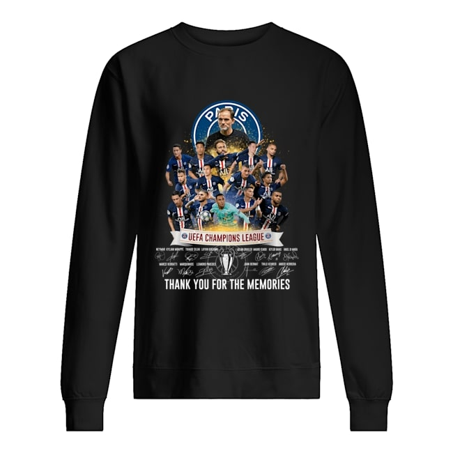 paris saint-germain uefa champions league signatures sweatshirt