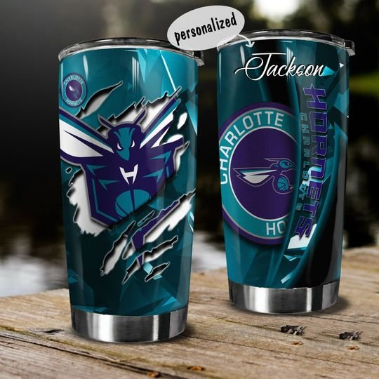 personalized name charlotte hornets team tumbler 1