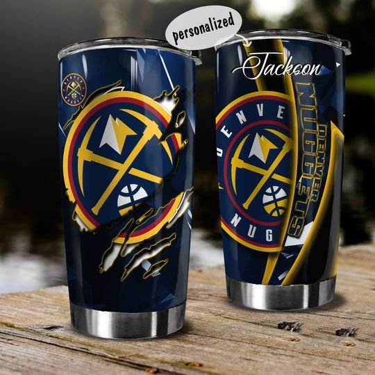 personalized name denver nuggets team tumbler 1