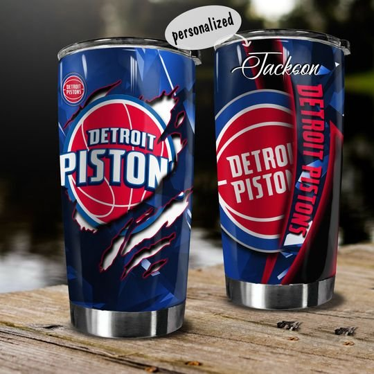 personalized name detroit pistons team tumbler 1
