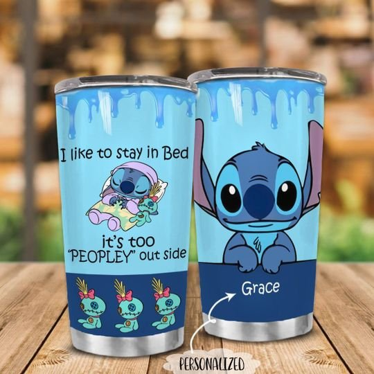 personalized name i like to stay in bed stitch tumbler 1 - Copy