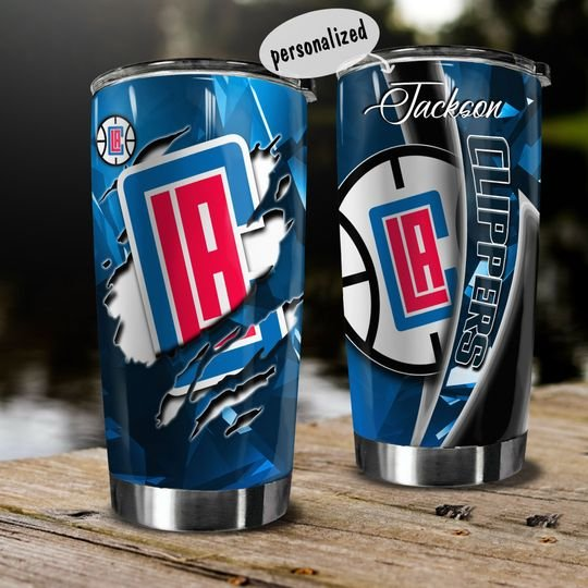 personalized name los angeles clippers team tumbler 1