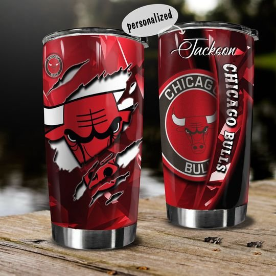 personalized name national basketball association chicago bulls tumbler 1