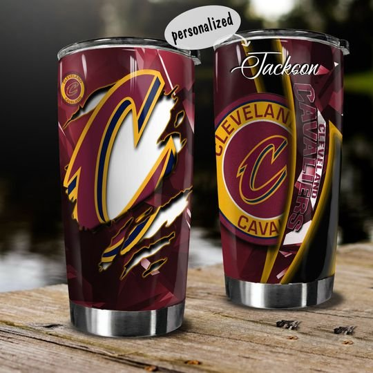 personalized name national basketball association cleveland cavaliers tumbler 1