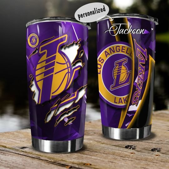 personalized name national basketball association los angeles lakers tumbler 1