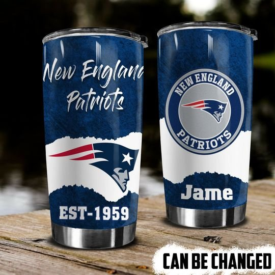 personalized name new england patriots football team tumbler 1