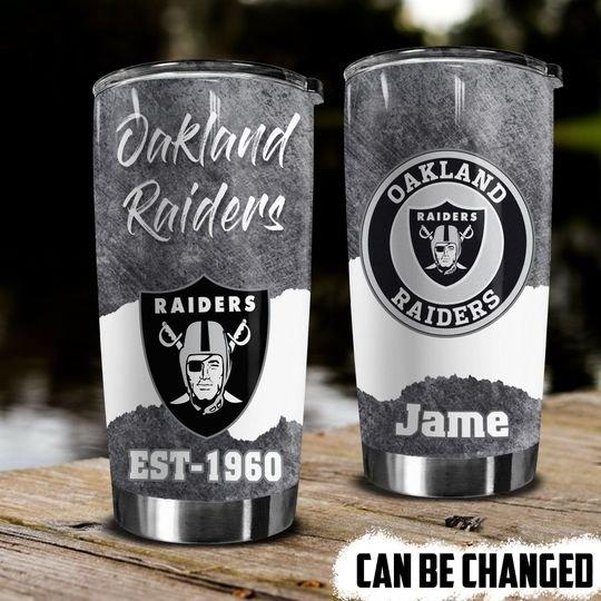 personalized name oakland raiders football team tumbler 1 - Copy