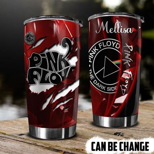 personalized name the dark side of the moon pink floyd band tumbler 1