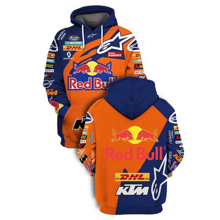 red bull and ktm factory racing full printing hoodie