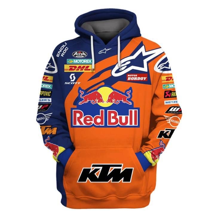 red bull and ktm factory racing full printing shirt 1