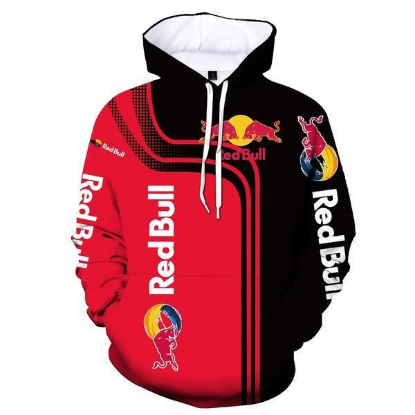 red bull energy drink full printing hoodie