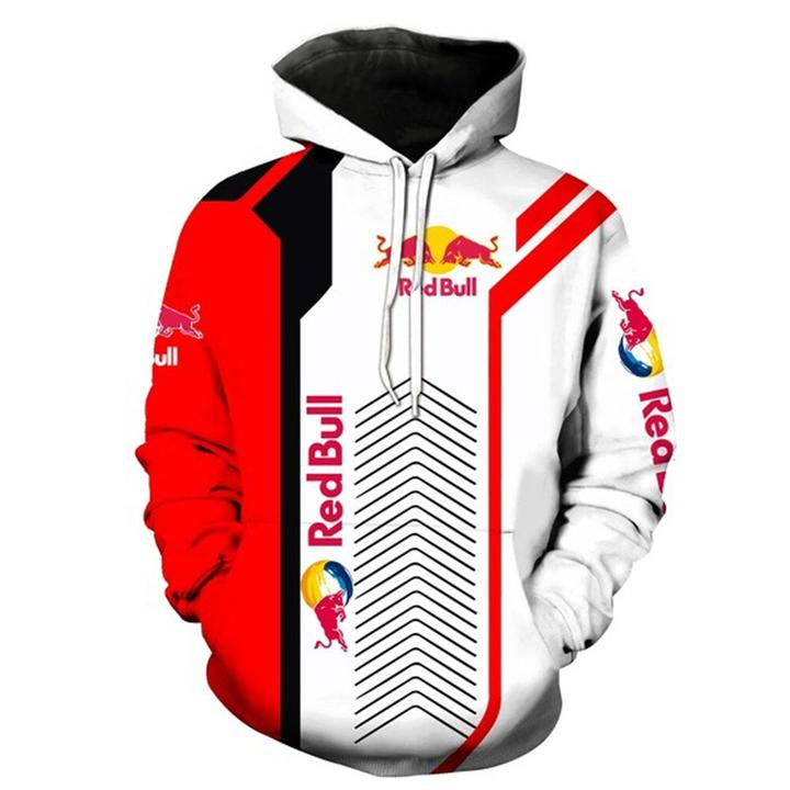 red bull sports car motorcycles full printing hoodie