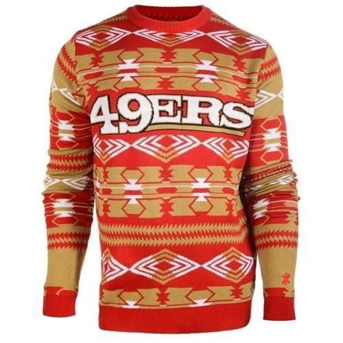 san francisco 49ers aztec print ugly christmas sweater 2