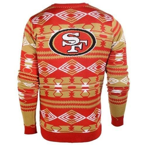 san francisco 49ers aztec print ugly christmas sweater 3