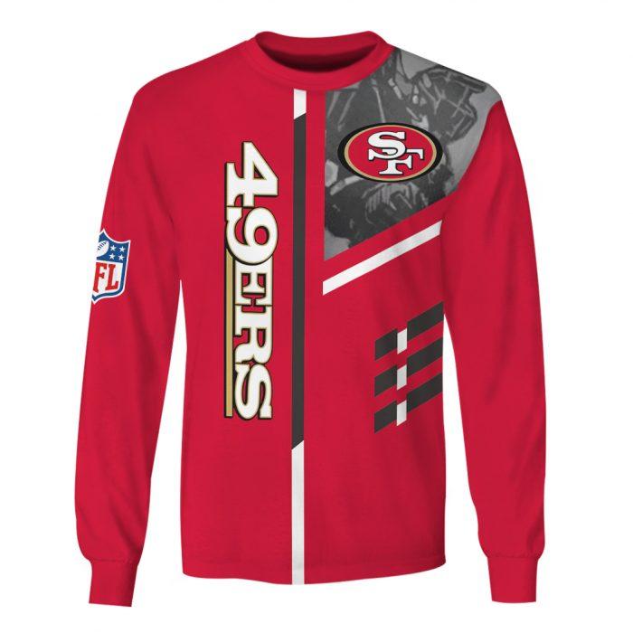 san francisco 49ers go niners full over printed sweatshirt