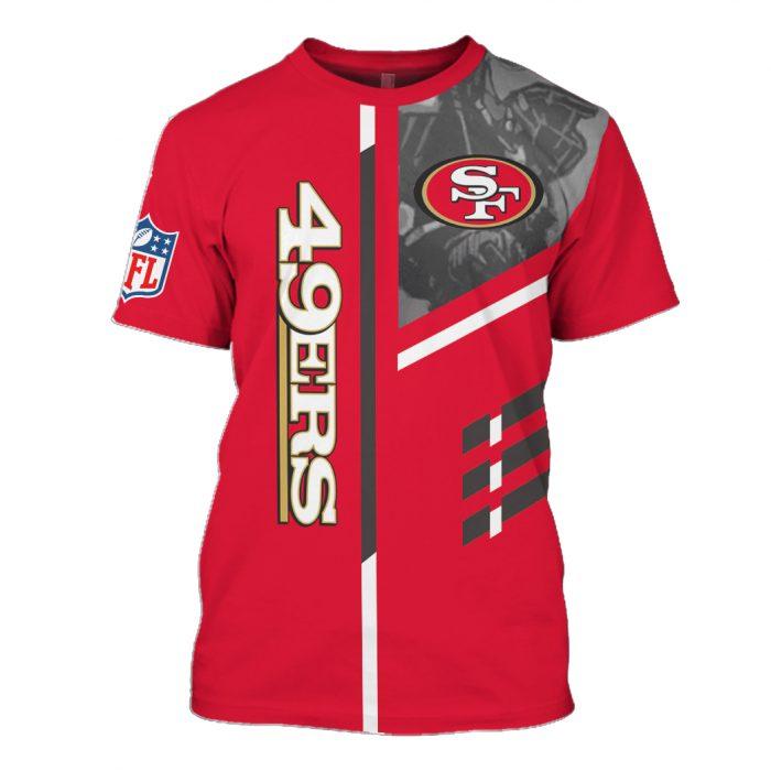 san francisco 49ers go niners full over printed tshirt