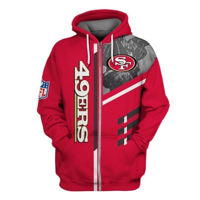 san francisco 49ers go niners full over printed zip hoodie