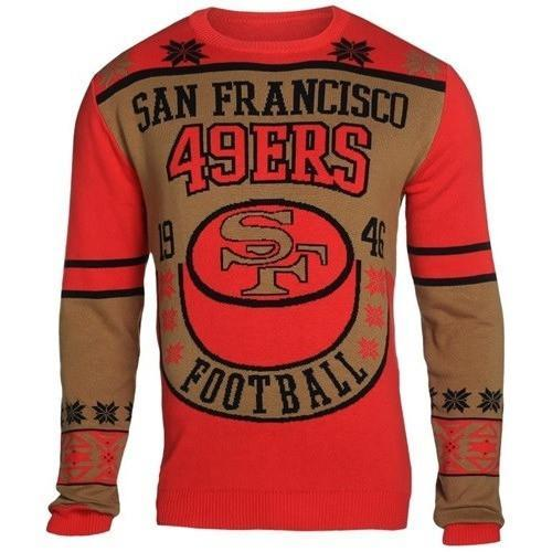 san francisco 49ers holiday ugly christmas sweater 1
