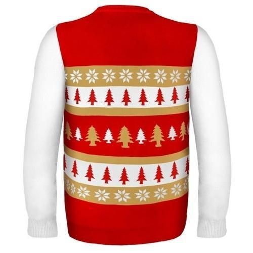 san francisco 49ers word mark ugly christmas sweater 3