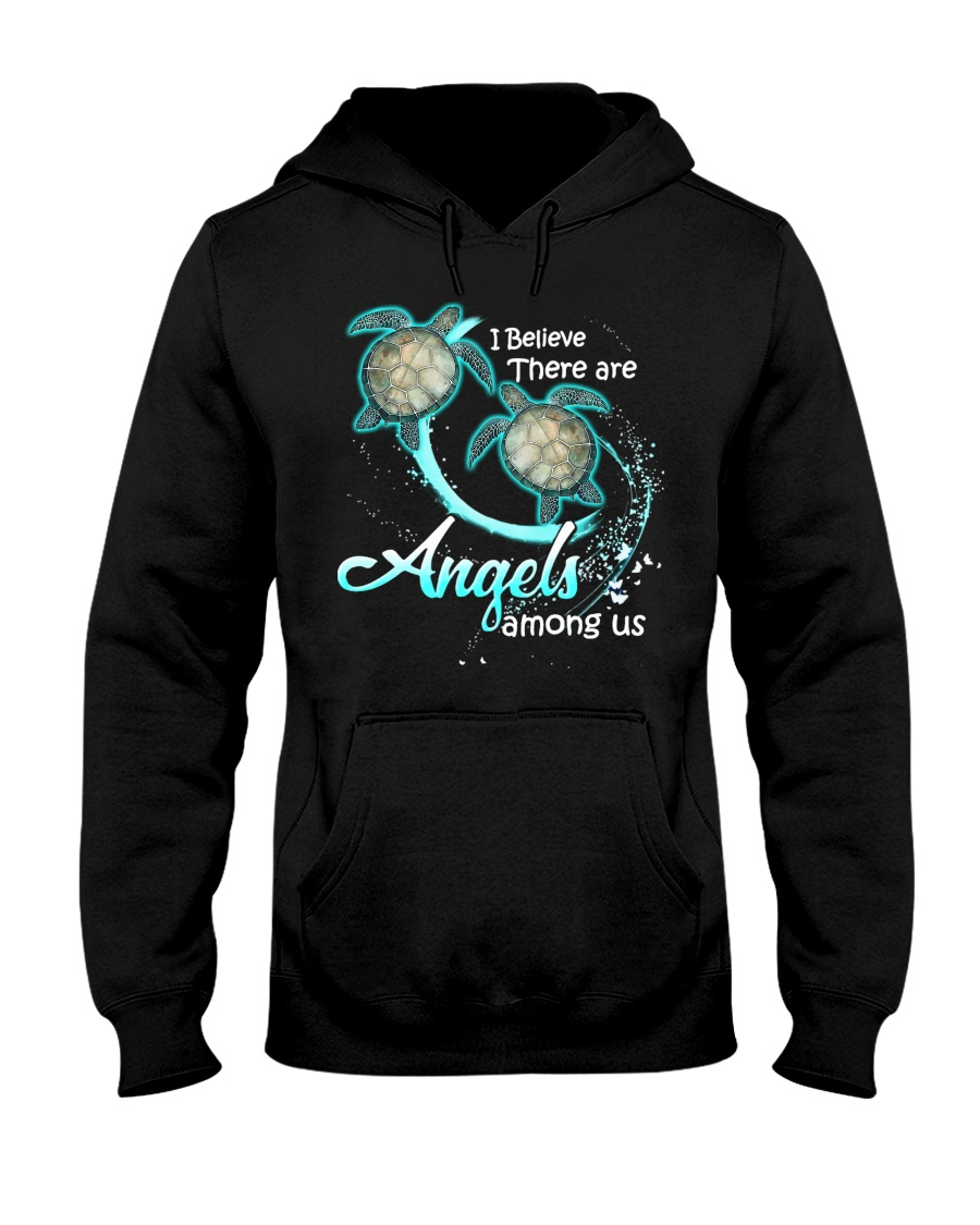 sea turtles i believe there are angles among us hoodie