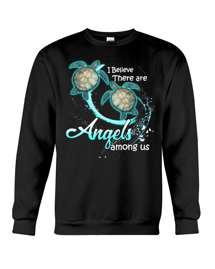 sea turtles i believe there are angles among us sweatshirt
