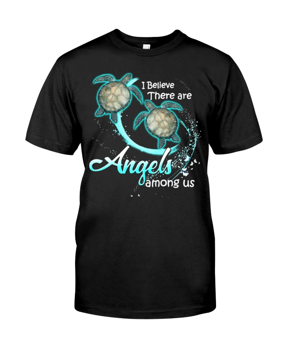sea turtles i believe there are angles among us tshirt
