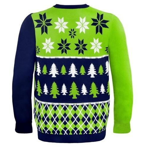 seattle seahawks busy block ugly christmas sweater 3