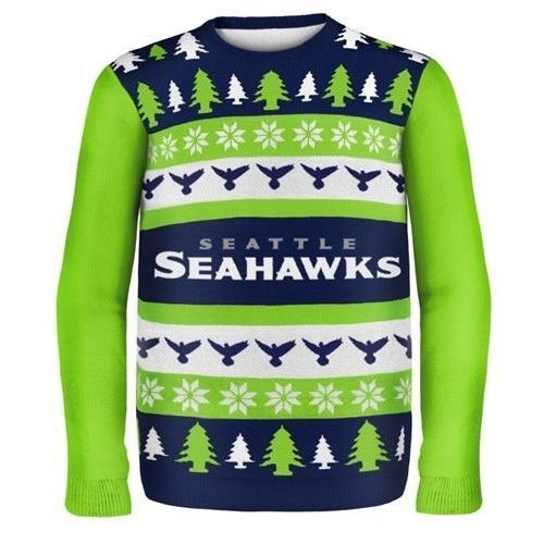 seattle seahawks ugly christmas sweater 1