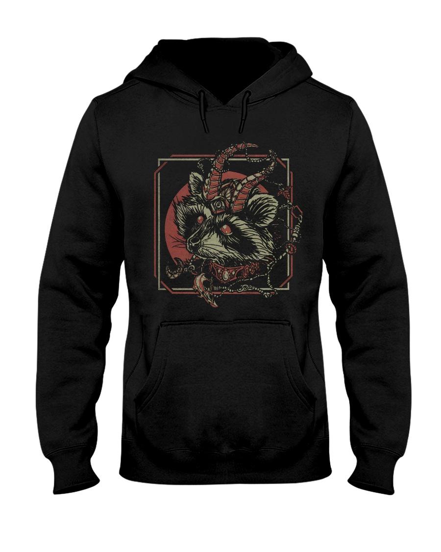 skull gothic raccoon satan hoodie