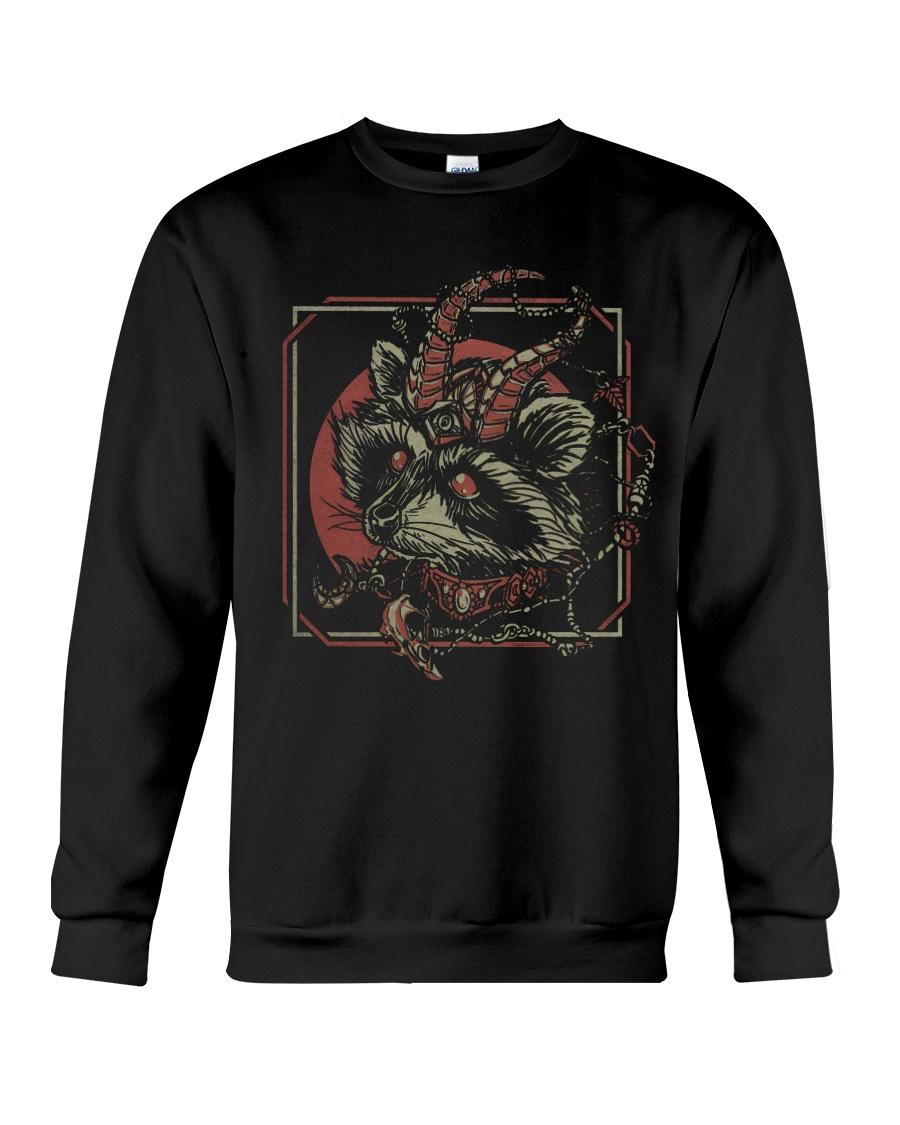 skull gothic raccoon satan sweatshirt
