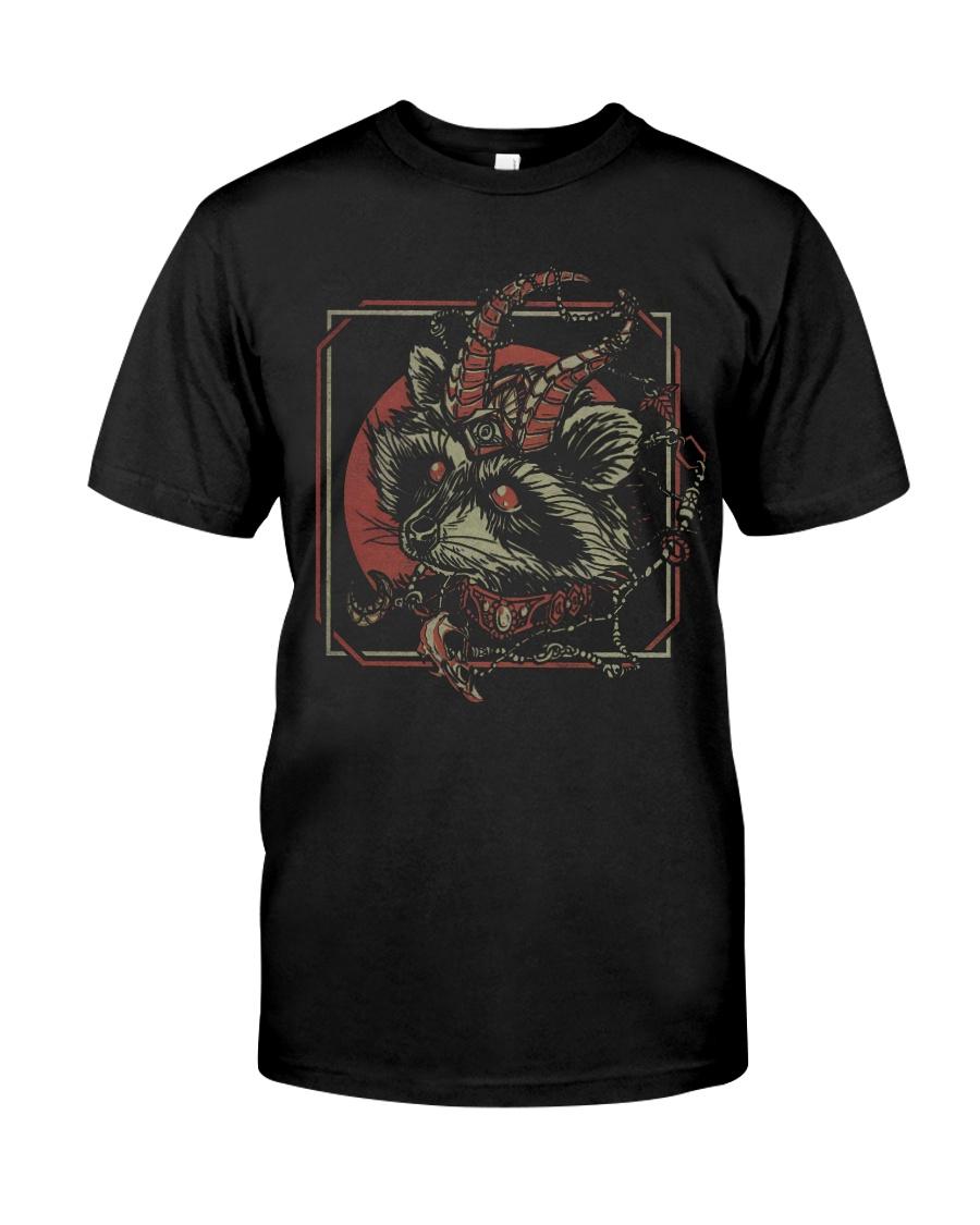 skull gothic raccoon satan tshirt
