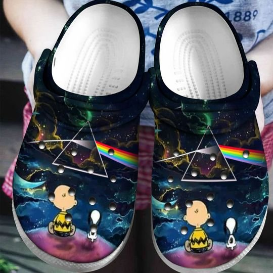 snoopy and charlie brown the dark side of the moon crocband clog 1 - Copy
