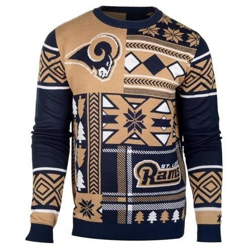 st louis rams patches ugly christmas sweater 1