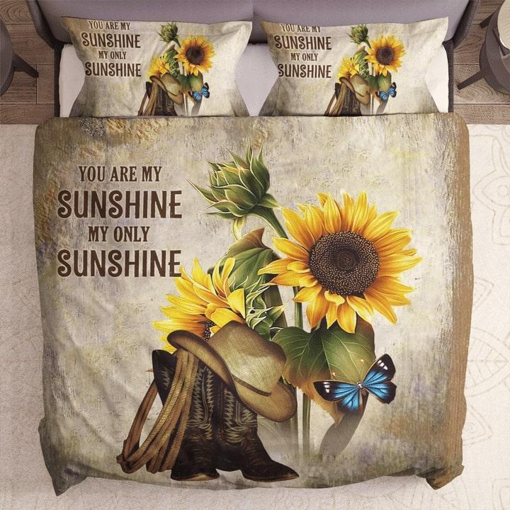 sunflower you are my sunshine my only sunshine bedding set 1