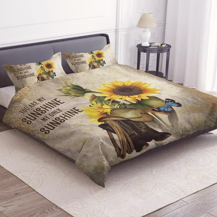 sunflower you are my sunshine my only sunshine bedding set 2