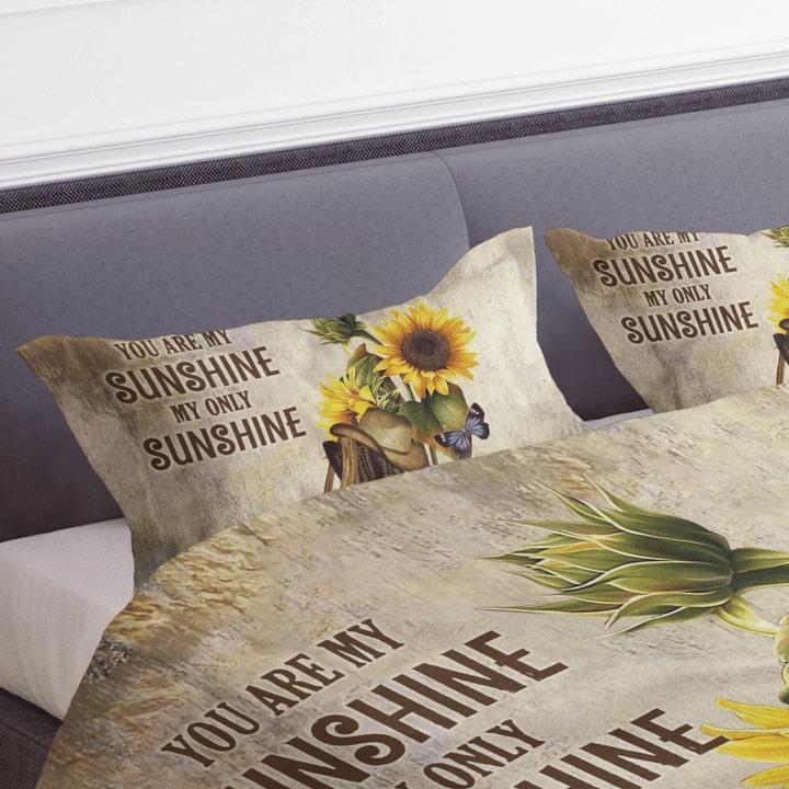 sunflower you are my sunshine my only sunshine bedding set 3