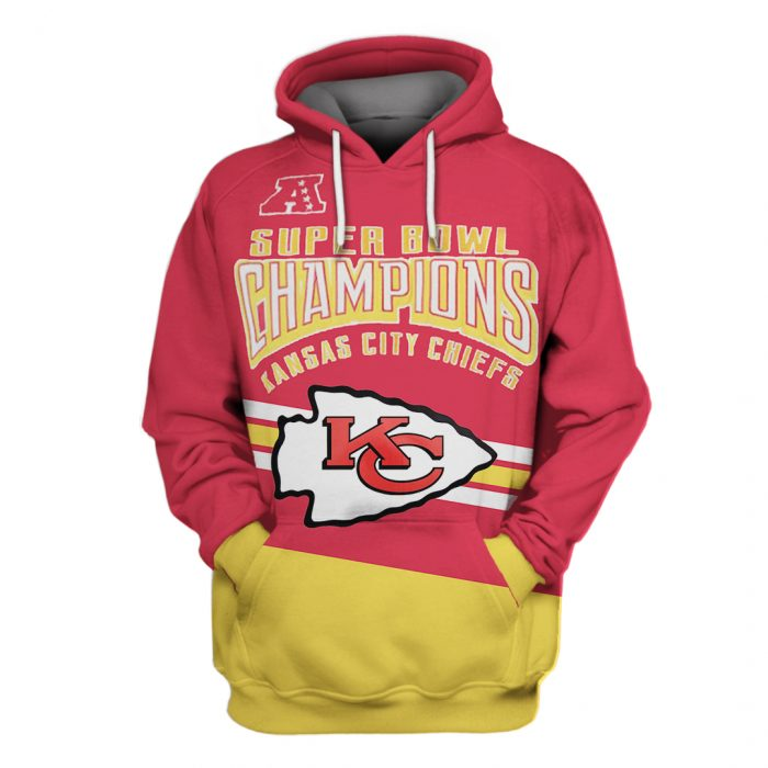 super bowl champions kansas city chiefs full over printed hoodie